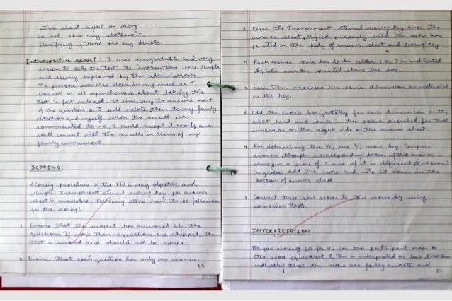 IGNOU Practicum Notebook - MAPC Ist Year