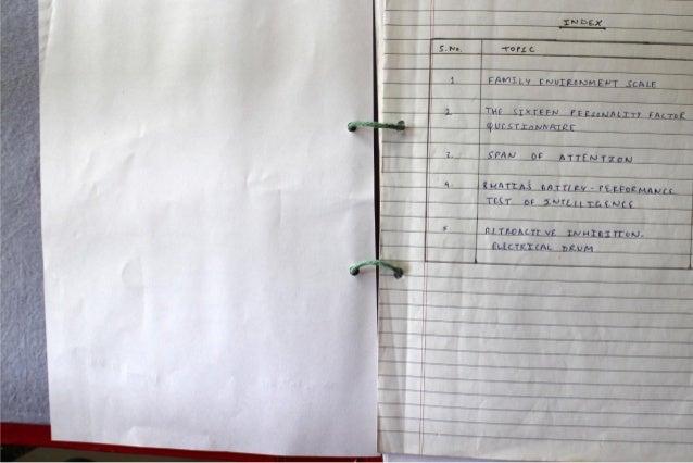 IGNOU Practicum Notebook - MAPC Ist Year Slide 2