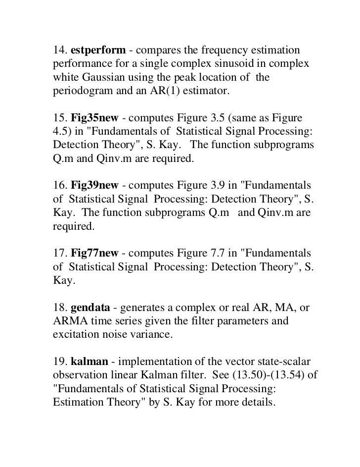 kay fundamentals of statistical signal processing detection theory pdf