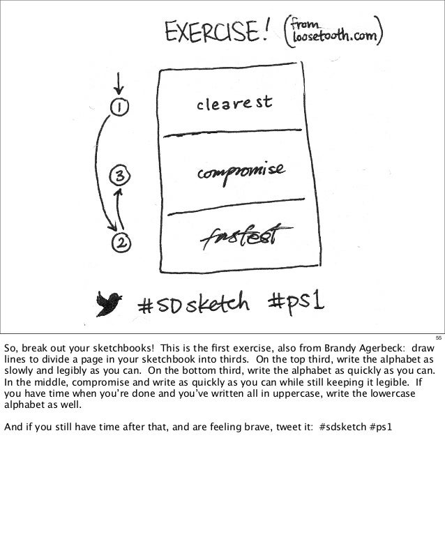 55  So, break out your sketchbooks! This is the first exercise, also from Brandy Agerbeck: draw lines to divide a page in y...