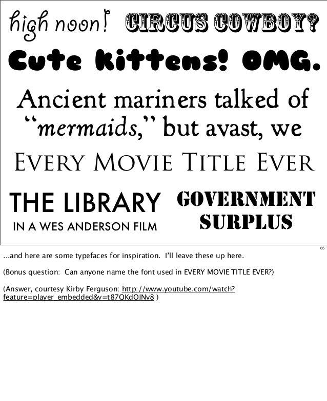 """high noon!  circus cowboy?  Cute kittens! OMG. Ancient mariners talked of """"mermaids,"""" but avast, we Every Movie Title Ever..."""