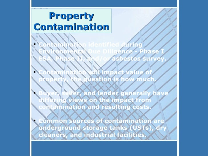 Environmental Liability When Buying A Property