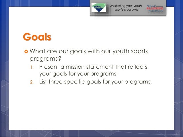 practical solutions for marketing youth sports programs