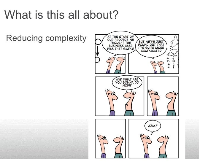 What is this all about? Reducing complexity