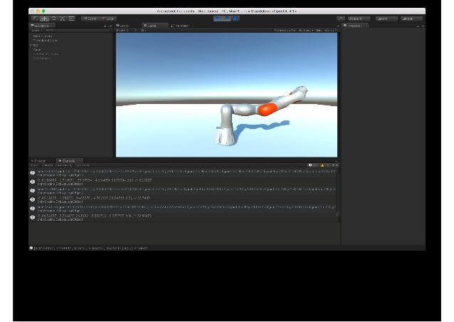 Practical use of game engine in CG and Robotics