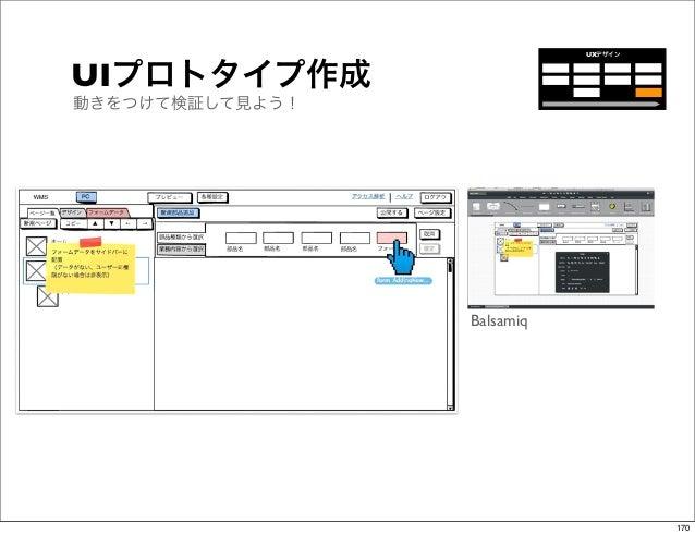 UXデザインUIプロトタイプ作成動きをつけて検証して見よう!                 Balsamiq                                     170
