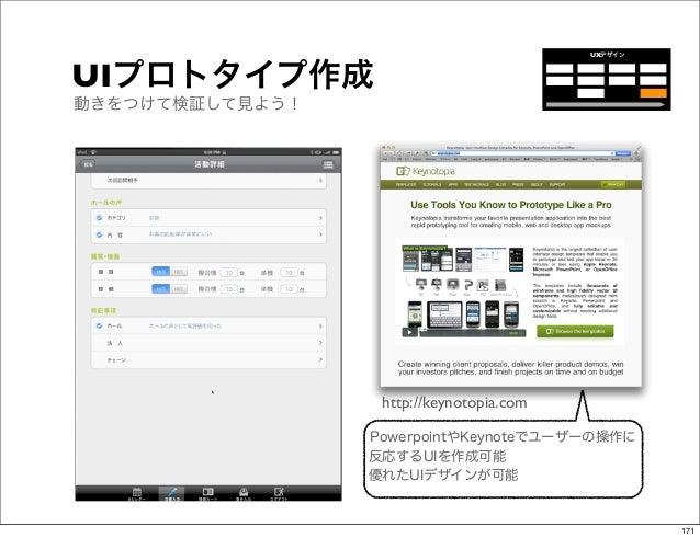UXデザインUIプロトタイプ作成動きをつけて検証して見よう!                  http://keynotopia.com                 PowerpointやKeynoteでユーザーの操作に         ...