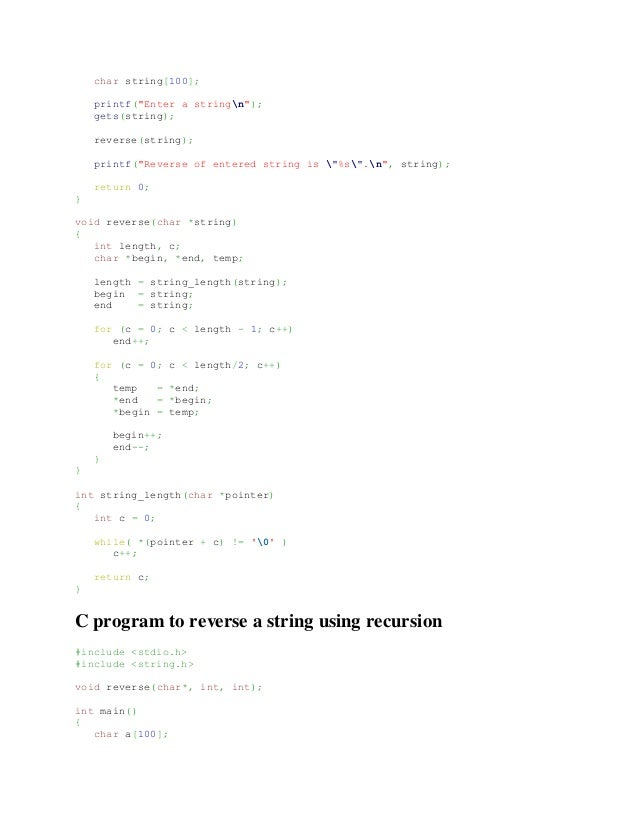 C program to convert string into lowercase and uppercase without using library function