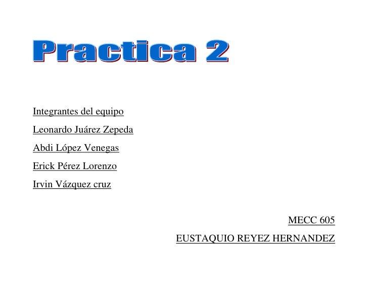 Integrantes del equipoLeonardo Juárez ZepedaAbdi López VenegasErick Pérez LorenzoIrvin Vázquez cruz                       ...