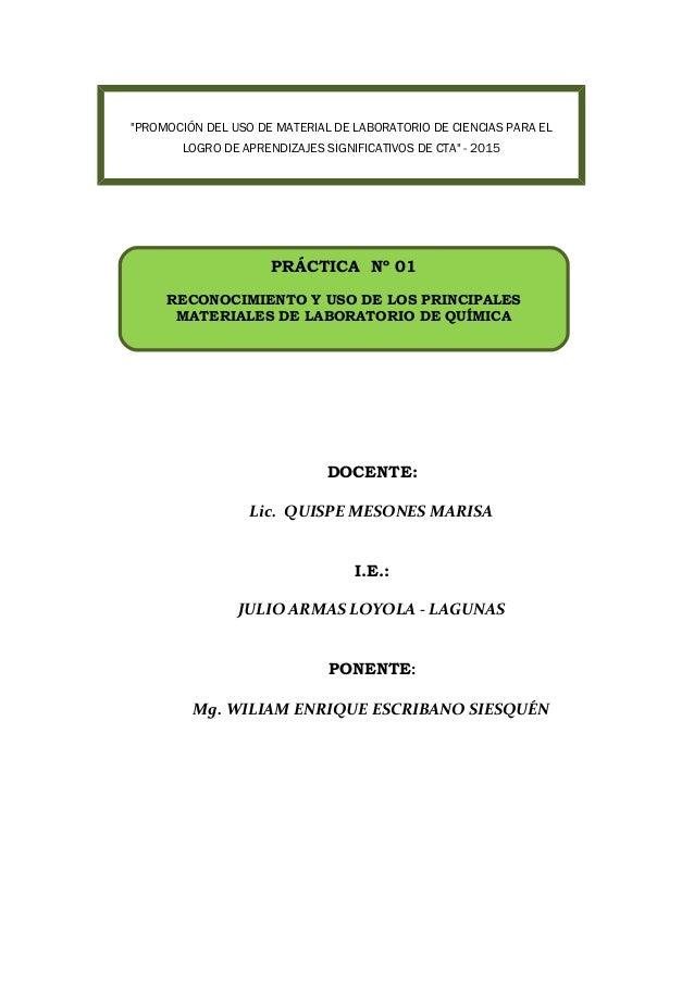 """DOCENTE: Lic. QUISPE MESONES MARISA I.E.: JULIO ARMAS LOYOLA - LAGUNAS PONENTE: Mg. WILIAM ENRIQUE ESCRIBANO SIESQUÉN """"PRO..."""
