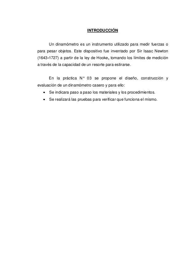 Practica n° 03  lab. fisica. diseño de un dinamometro. Slide 2