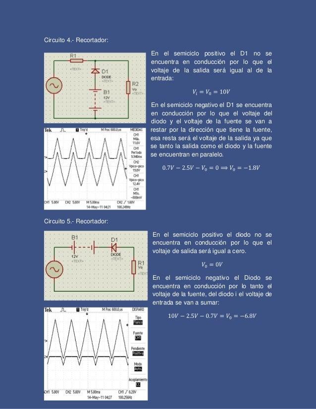 Circuito Recortador : Recortadores y sujetadores de señales