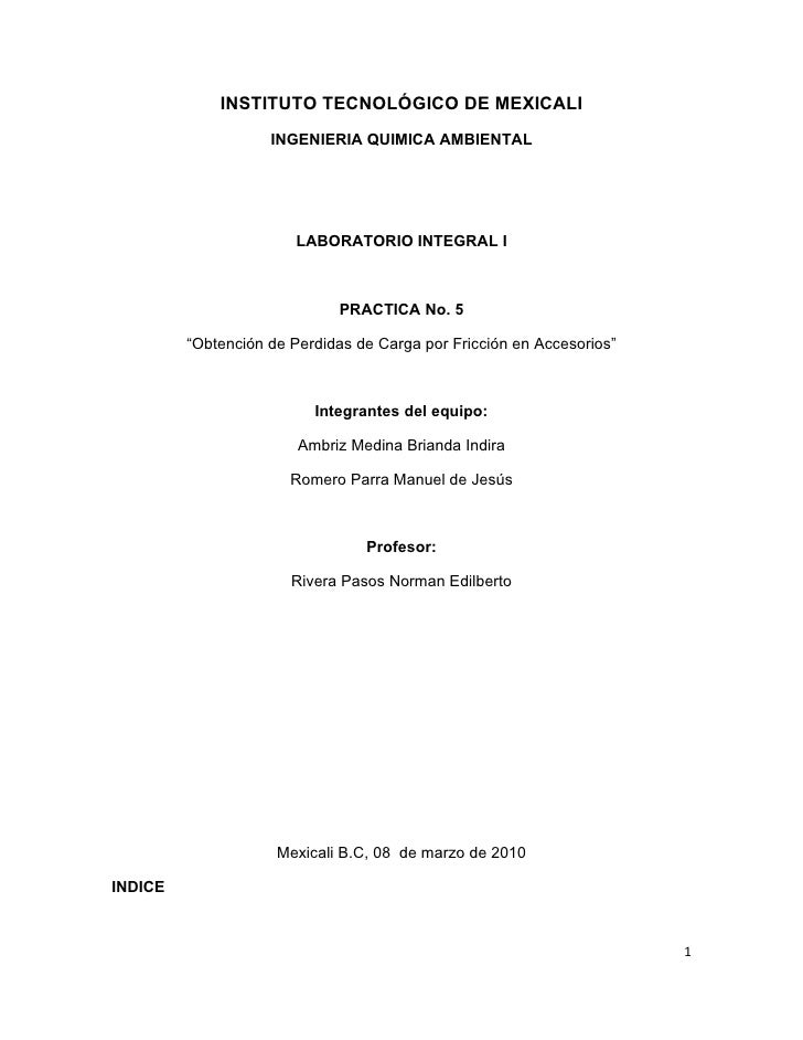 INSTITUTO TECNOLÓGICO DE MEXICALI                     INGENIERIA QUIMICA AMBIENTAL                             LABORATORIO...