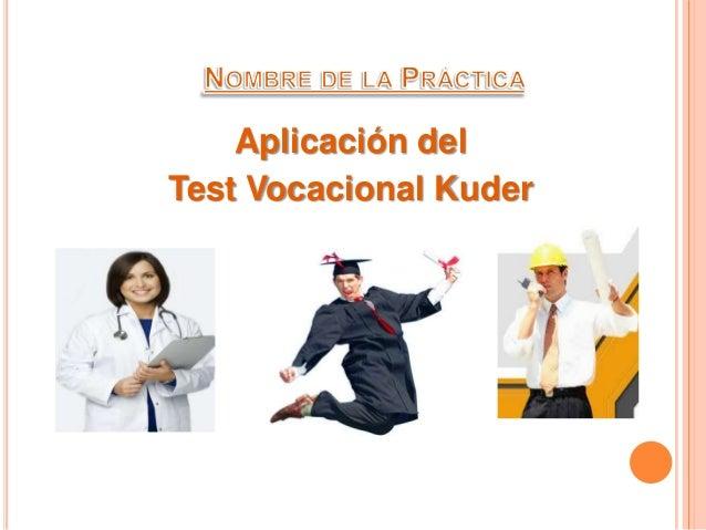 Test de orientacion vocacional kuder