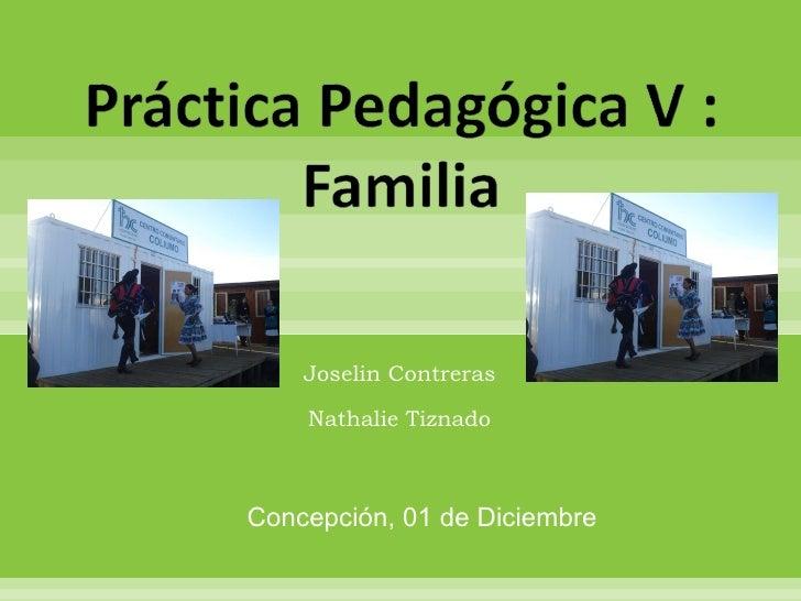 Joselin Contreras  Nathalie Tiznado  Concepción, 01 de Diciembre