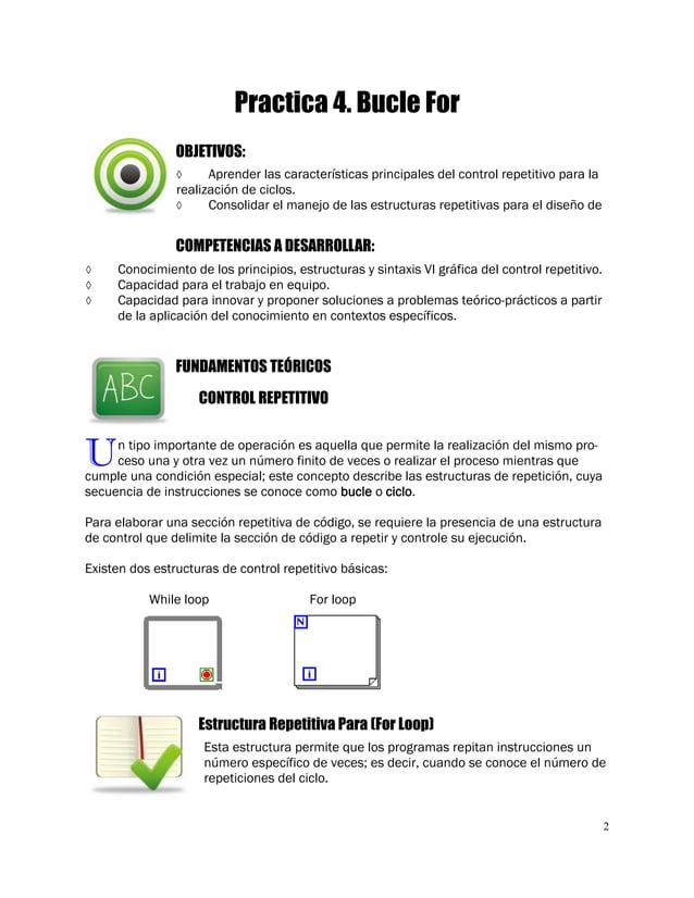 2  Aprender las características principales del control repetitivo para la realización de ciclos.  Consolidar el manejo ...