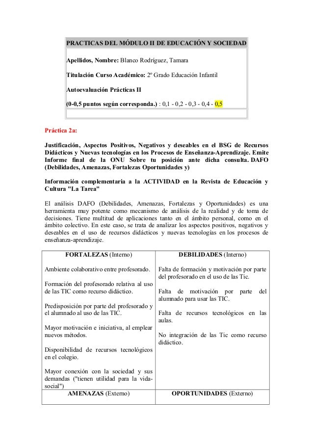 PRACTICAS DEL MÓDULO II DE EDUCACIÓN Y SOCIEDADApellidos, Nombre: Blanco Rodríguez, TamaraTitulación Curso Académico: 2º G...