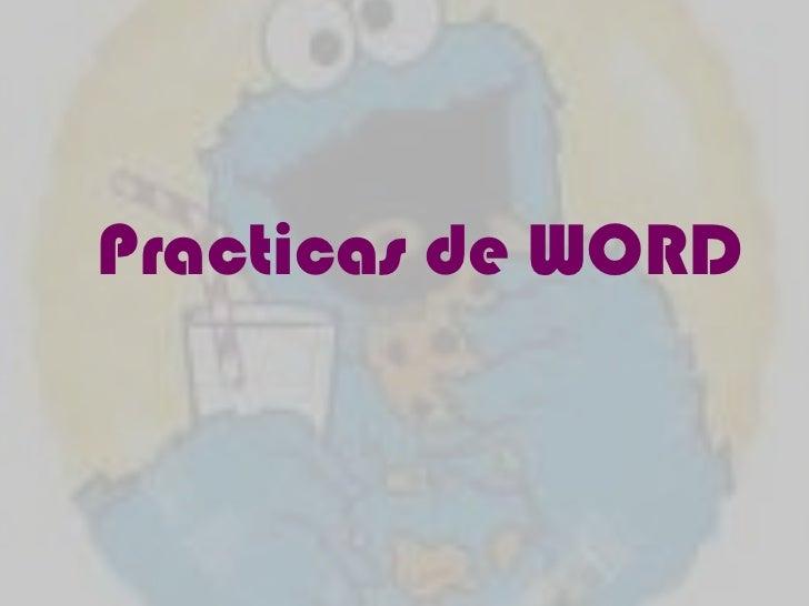 Practicas de WORD <br />