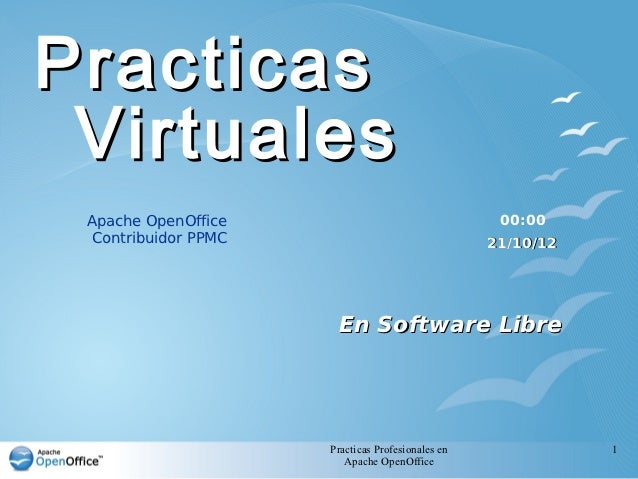Practicas Virtuales Apache OpenOffice                                 00:00 Contribuidor PPMC                             ...