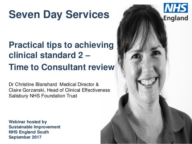 Seven Day Services Practical Tips To Achieving Clinical