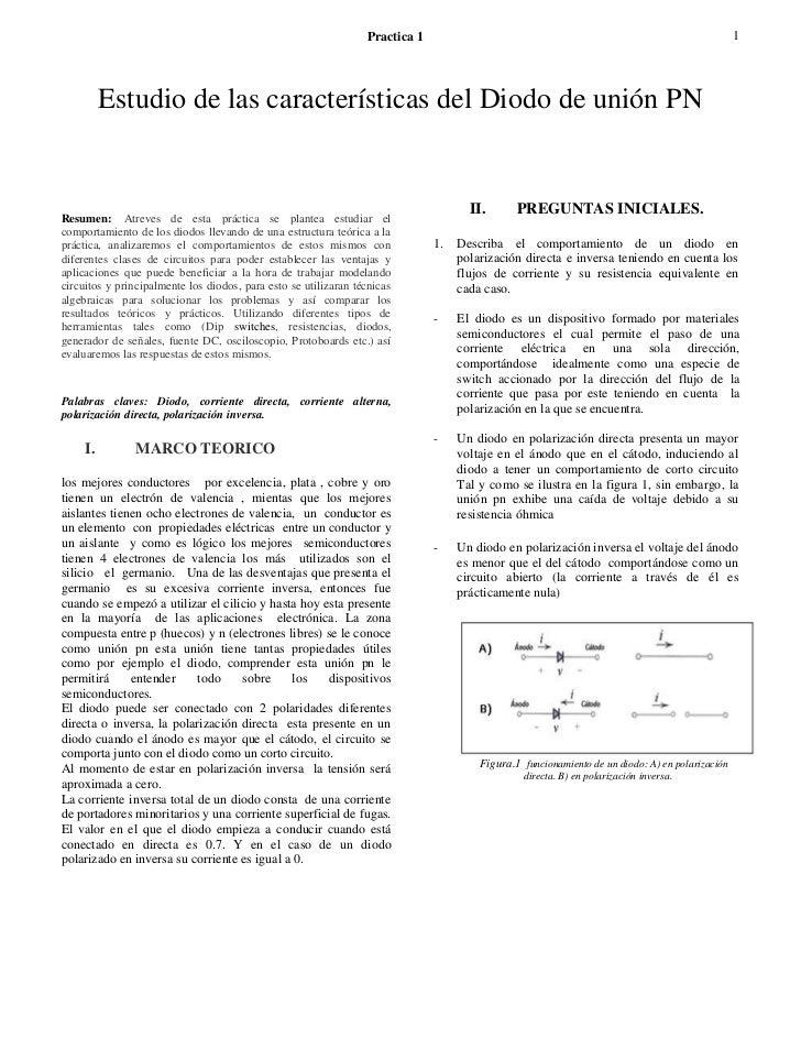 Practica 1                                                                      1          Estudio de las características ...