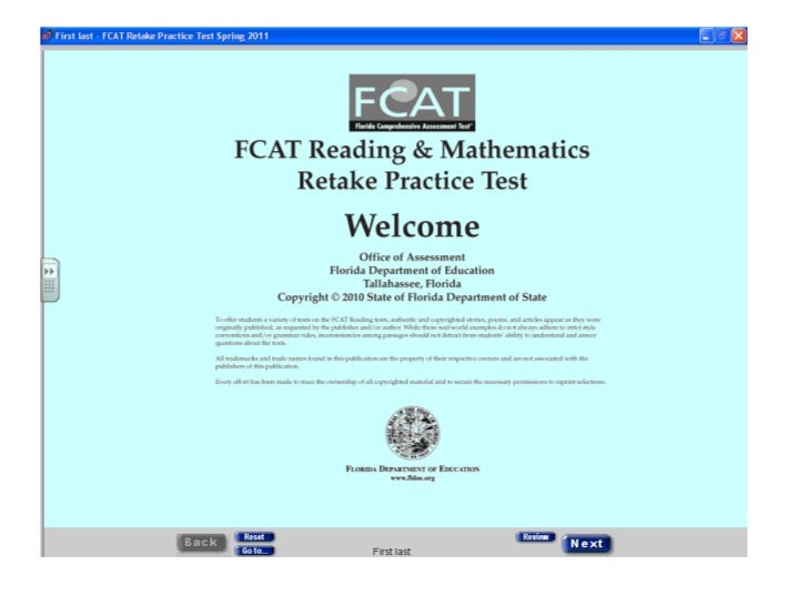 Practice fcat 10th grade