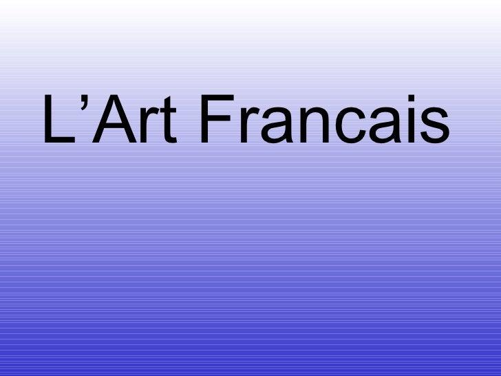 L'Art Francais