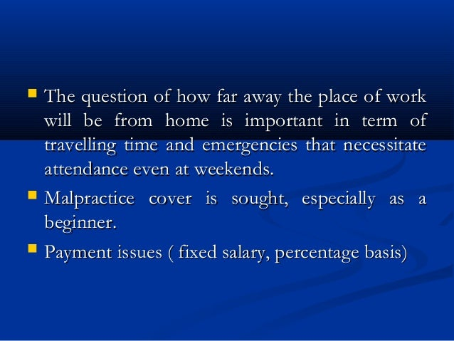  The question of how far away the place of workThe question of how far away the place of work will be from home is import...