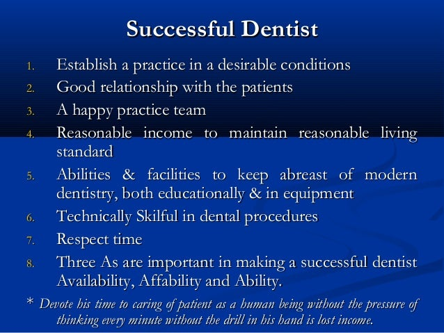 Dental Practice Management And Training Programs