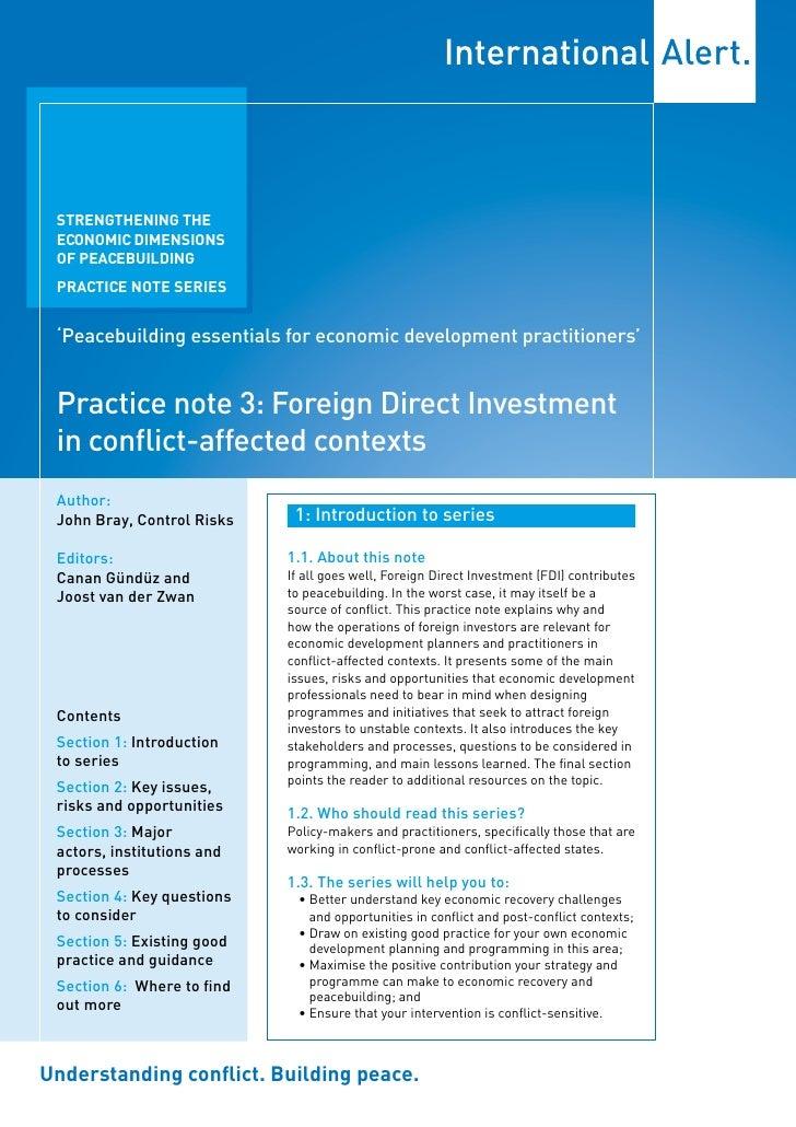 STRENGTHENING THE  ECONOMIC DIMENSIONS  OF PEACEBUILDING  PRACTICE NOTE SERIES    'Peacebuilding essentials for economic d...