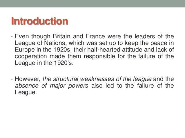 League of nations failure essay