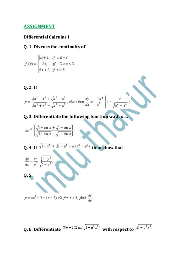 Practice questions( calculus ) xii