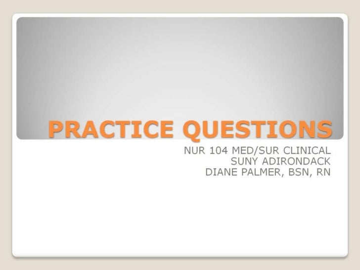 Practice questions pp