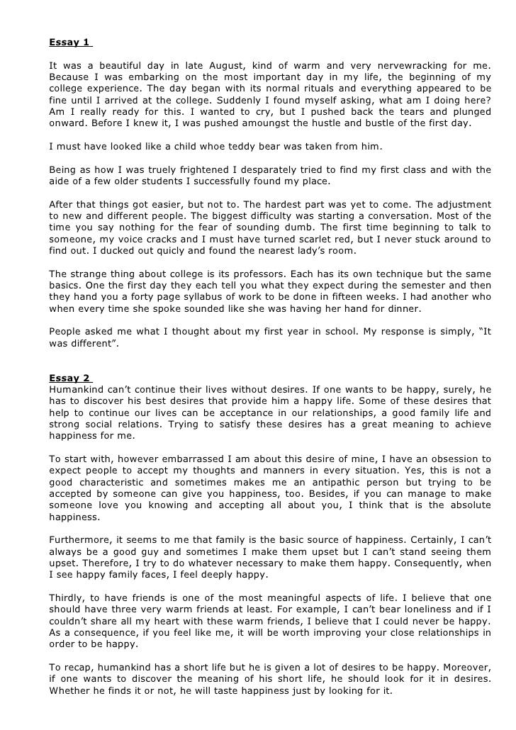practice sample student essays