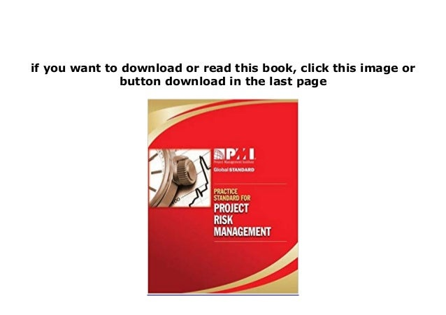 practice standard for project risk management pdf free download