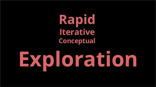 Exploration Rapid Iterative Conceptual