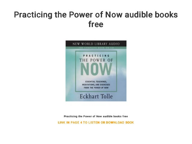 Practicing the Power of Now audible books free
