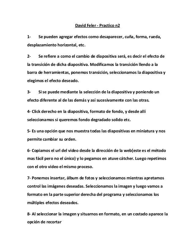David Feler - Practico n21- Se pueden agregar efectos como desaparecer, cuña, forma, rueda,desplazamiento horizontal, etc....