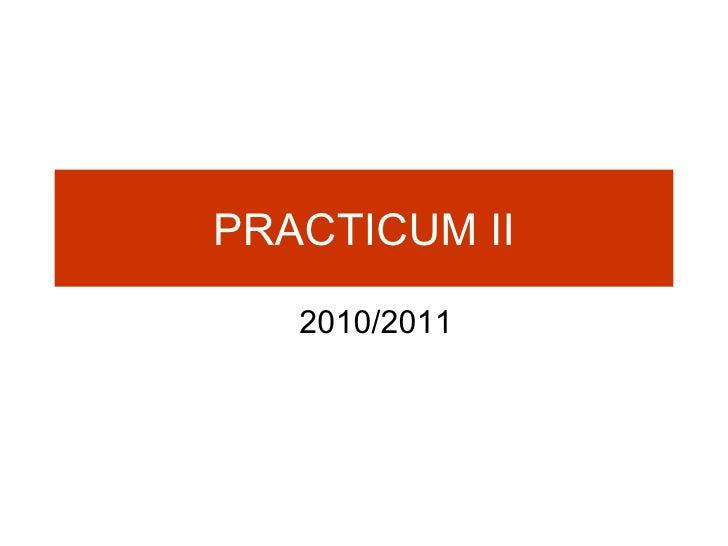 PRACTICUM   II 2010/2011