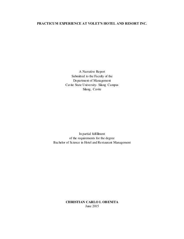 OJT Narrative Report Essay Sample