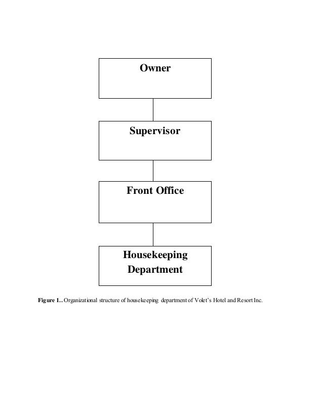 Practicum experience at volet 13 figure 1 organizational structure of housekeeping department thecheapjerseys Gallery