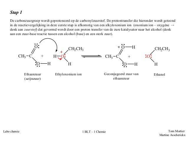 Labovoorbereiding Bereiding Van Een Ester Ethylacetaat