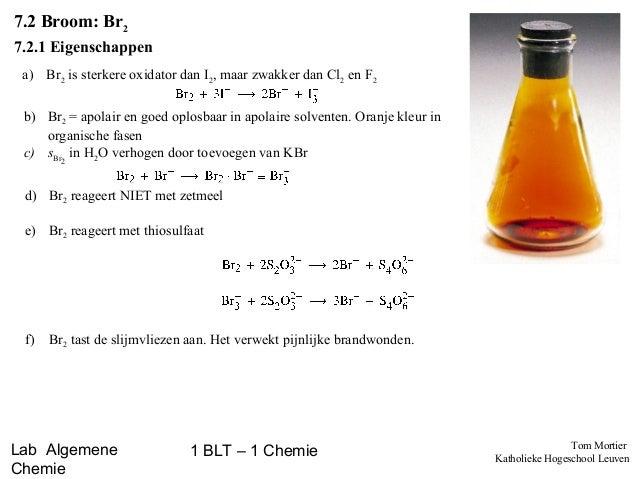 Labovoorbereiding - Eigenschappen van halogenen