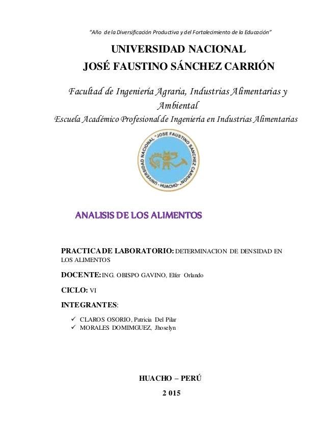"""""""Año de la Diversificación Productiva y del Fortalecimiento de la Educación"""" UNIVERSIDAD NACIONAL JOSÉ FAUSTINO SÁNCHEZ CA..."""