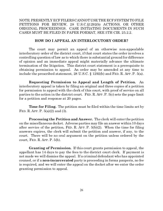 Practitioner'S Guide To The U.S. Court Of Appeals For The Fifth Circu…