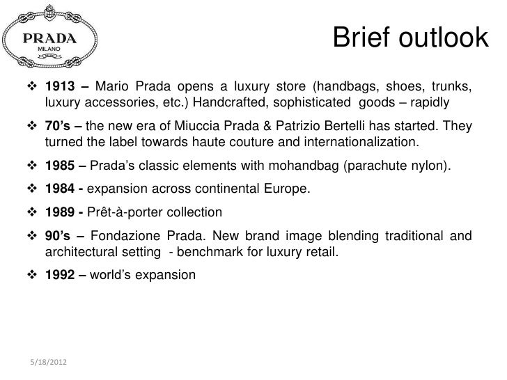 prada marketing This statistic depicts the net sales to franchised prada stores in 2015, by brand content marketing & information design for your projects: prada's net sales to franchised stores, by brand 2015 premium.