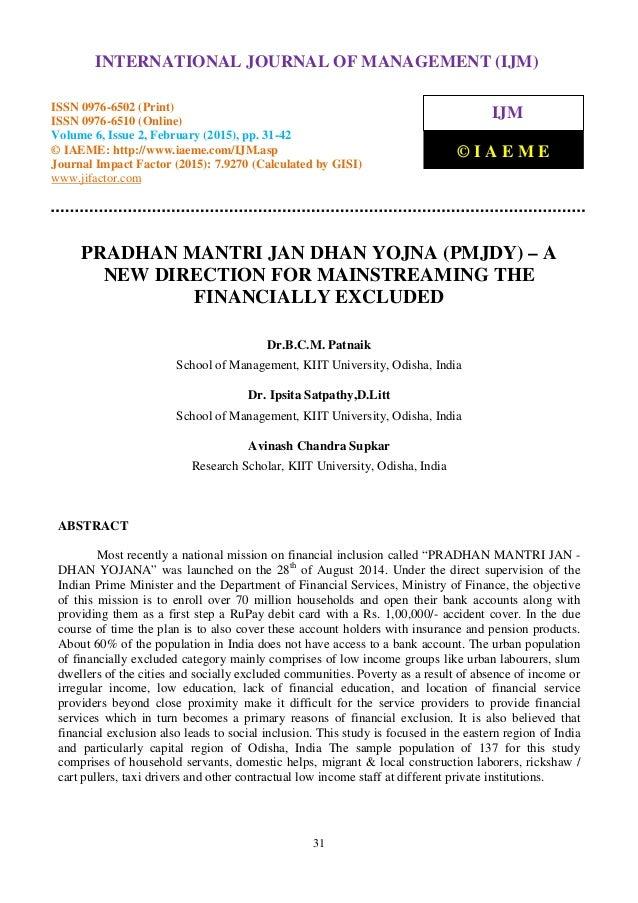 Pradhan mantri jan dhan yojna essay help