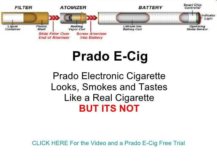 Prado E-Cig Prado Electronic Cigarette Looks, Smokes and Tastes Like a Real Cigarette BUT ITS NOT CLICK HERE For the Video...
