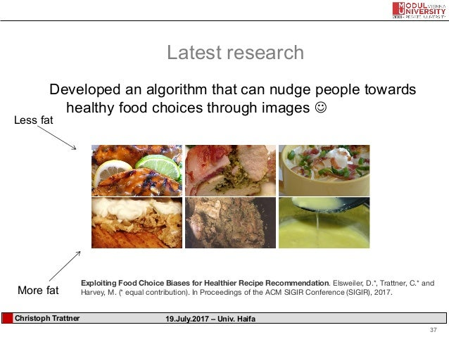 Towards health aware food recommender systems haifa user study 1 user study 2 37 37 forumfinder Gallery