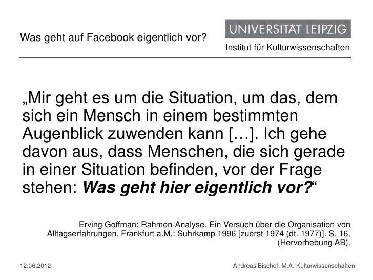 Was geht auf Facebook eigentlich vor?                                                        Institut für Kulturwissenscha...